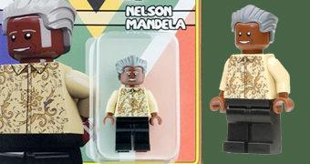 Nelson Mandela MiniFigure Estilo LEGO (100 Anos)
