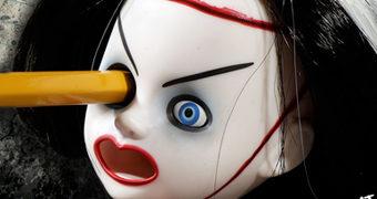 Apontador de Lápis Cabeça Decepada Living Dead Dolls