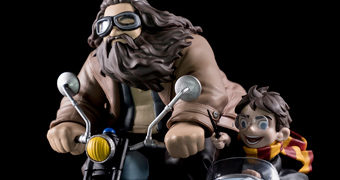 Harry e Hagrid Q-Fig – Figura Diorama Chibi Harry Potter