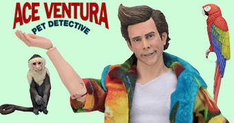 Ace Ventura Pet Detective Clothed Action Figure Retro do Detetive de Animais