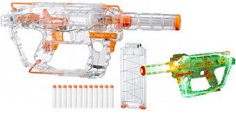 Blaster Nerf Ghost Ops Transparente, Iluminado e Motorizado