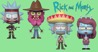 Duplas VYNL Rick and Morty: Seal Rick + Scary Terry e Rick Sombrero + Unity
