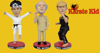 Karatê Kid Bobble Heads: Sr. Miyagi, Daniel San e Johnny Lawrence