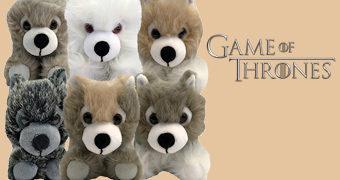 Ninhada de Pelúcia com 6 Filhotes de Direwolf (Game of Thrones)
