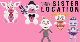 Bonecos de Pelúcia do Game Five Nights at Freddy's: Sister Location