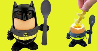 Batman Egg Cup Set com Copo de Ovo Quente e Cortador de Torradas