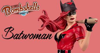 Estátua Batwoman DC Bombshells (Away Uniform) em Estilo Pin Up Anos 40