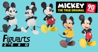 Estátuas Mickey Mouse Figuarts ZERO 90 Anos de História!