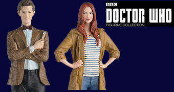 Figuras 11th Doctor & Amy Pond Doctor Who Companions Eaglemoss