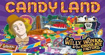 Jogo Candy Land de A Fantástica Fábrica de Chocolate