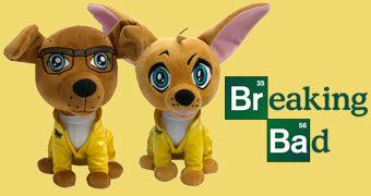 Cosplay Canino de Pelúcia Breaking Bad: Pitbull Walter White e Chihuahua Jesse Pinkman