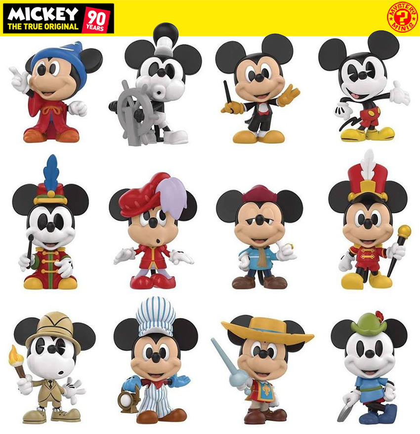 Mickey Mouse 90 Anos Mystery Minis Mini Figuras Funko