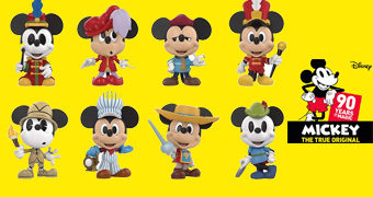 Mickey Mouse 90 Anos Mystery Minis – Mini-Figuras Funko Blind-Box