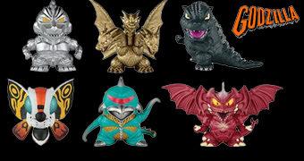 Mini-Figuras Godzilla Chibi (Bandai)