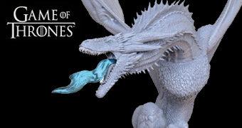 Dragão de Gelo e Rei da Noite – Estátua Perfeita Game of Thrones Dark Horse