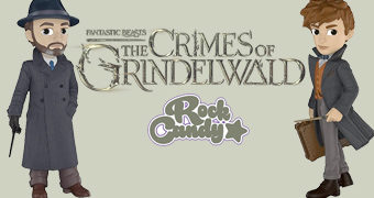 Bonecos Newt Scamander e Albus Dumbledore Rock Candy (Animais Fantásticos: Os Crimes de Grindelwald)