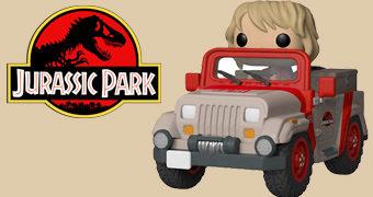 Jurassic Park Pop! Rides: Jeep com Ellie Sattler (Laura Dern)