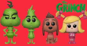 Bonecos Pop! do Filme O Grinch