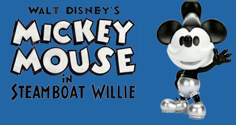 Figura de Metal Mickey Mouse Metalfigs Steamboat Willie 90 Anos
