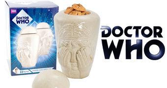 Pote de Cookies Doctor Who Weeping Angel (Anjo Lamentador)
