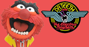 Busto Animal, o Baterista da Banda Dr. Teeth and The Electric Mayhem (The Muppet Show)
