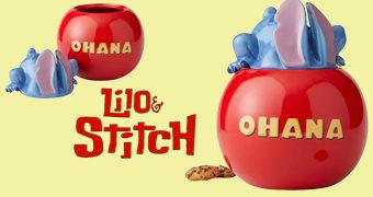 """Pote de Cookies Lilo and Stitch """"Ohana"""" (Família)"""
