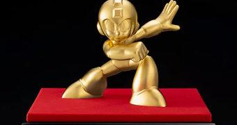 Estátua de Ouro 24k Mega Man 30 Anos por US$22.000