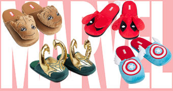 Chinelos Marvel Slippers: Groot, Capitão América, Loki e Deadpool