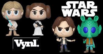 Duplas VYNL Star Wars: Leia + Luke e Han + Greedo