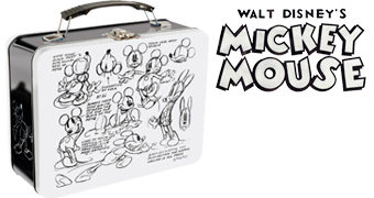 Lancheira Mickey Mouse Esboços e Traços