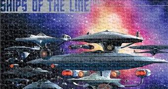 Quebra-Cabeça Star Trek Espaçonaves da Federação dos Planetas Unidos