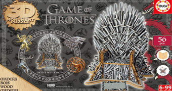 Quebra-Cabeça 3D Trono de Ferro Game of Thrones (Educa Borras)