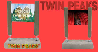 Bem Vindo a Twin Peaks Placa Bobble Head