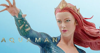Estátua Mera (Amber Heard) Aquaman Movie com 30,4 cm de Altura