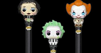 Canetas Funko Pop! Pen Horror: Leatherface, Beetlejuice e Pennywise