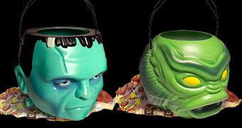 Baldes de Balas Monstruosos para o Halloween: Frankenstein e Monstro da Lagoa Negra