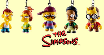 The Simpsons Crap-tacular 18 Chaveiros Kidrobot (Blind-Box)