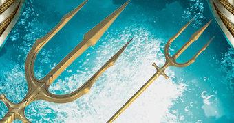Réplica Perfeita do Tridente do Aquaman com 1,83m de Comprimento