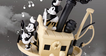 Estátua/Diorama Mickey Mouse Steamboat Willie D-Select 90 Anos