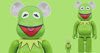 Bonecos Kermit (Caco) Be@rbrick Muppets (100% & 400%)