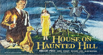 Quebra-Cabeça  A Casa dos Maus Espíritos com Vincent Price (House on Haunted Hill 1959)