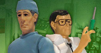 Action Figures do Filme Re-Animator 1985: Dr. Herbert West e Dr. Carl Hill