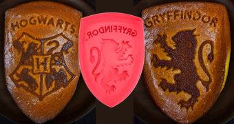 Formas de Silicone para Bolos de Grifinória e Hogwarts (Harry Potter)