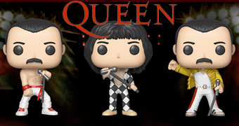 Bonecos Pop! Queen com Freddie Mercury, Brian May, John Deacon e Roger Taylor