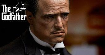 Dom Vito Corleone, O Poderoso Chefão (Marlon Brando) Estátua Perfeita Blitzway 1:4