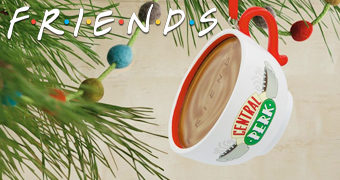 Enfeite de Natal Friends: Caneca do Central Perk