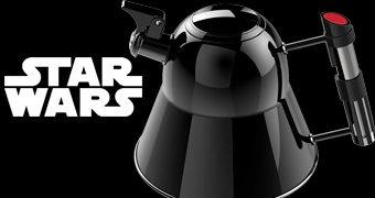 Chaleira Darth Vader com Cabo Sabre de Luz