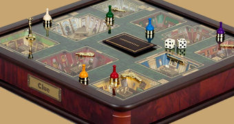 Jogo Clue (Detetive) Luxury Collection com Salas Tridimensionais em Miniatura (Luxury Collection)