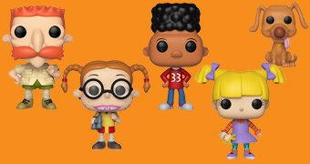 Bonecos Pop! Nickelodeon Anos 90: Rugrats, Os Thornberrys e Hey Arnold!