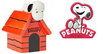 Pote de Cookies Snoopy na Casinha